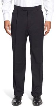 Ballin Men's Pleated Solid Wool Trousers