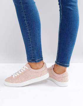 New Look Glitter Lace Up Sneaker