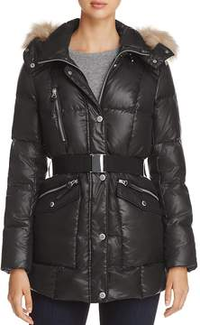 Andrew Marc Lucy Faux Fur Trim Puffer Jacket