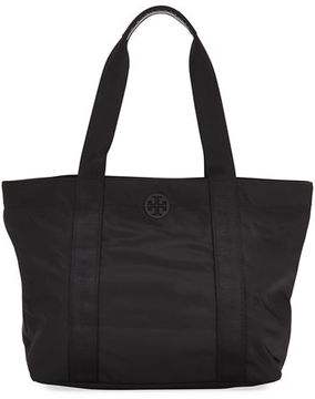 Tory Burch Quinn Large Zip-Top Nylon Tote Bag - TORY NAVY - STYLE