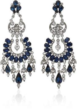 Ben-Amun Ben Amun Silver-Tone Crystal Earrings