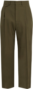 Lemaire Front-pleat mid-rise straight-leg wool trousers