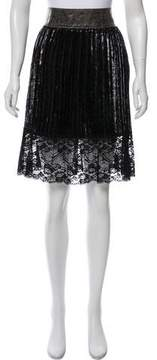 Vivienne Tam Pleated Knee-Length Skirt