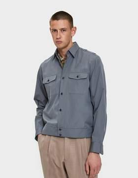 Dries Van Noten Poplin Overshirt in Grey
