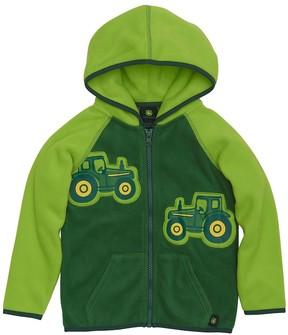 John Deere Baby Boy Tractor Appliques Zip Hoodie