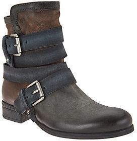 Miz Mooz Leather Mid-Calf Boots w/Buckle Detail - Slater