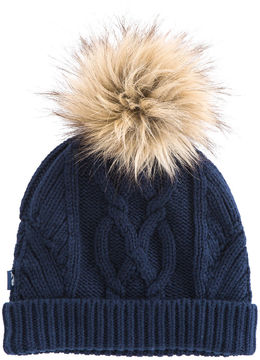 Vineyard Vines Fur Pom Pom Knit Hat