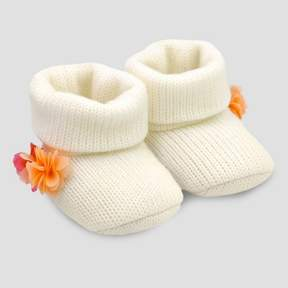 Carter's Just One You made by carter Baby Girls' Pom Bootie - Just One You® made by White Newborn
