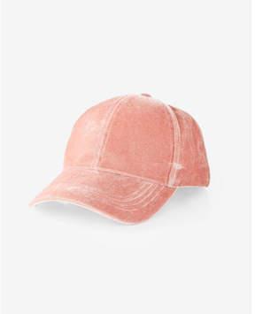 Express velvet baseball hat