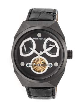 Heritor Oxford Automatic Charcoal Dial Men's Watch