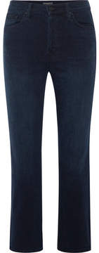Mother The Tomcat Cropped High-rise Straight-leg Jeans - Dark denim