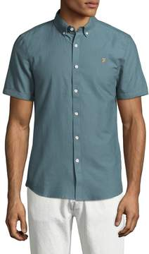 Farah Men's The Brewer Short Sleeve Button Down Shirt