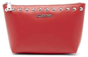 Love Moschino Studded Zip Pouch