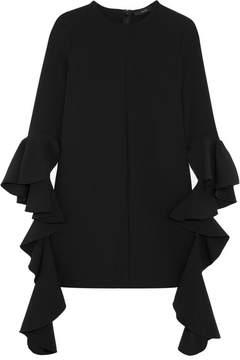 Ellery Kilkenny Ruffled Crepe Mini Dress - Black