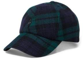 Ralph Lauren Tartan Wool-Blend Fitted Cap Blackwatch One Size