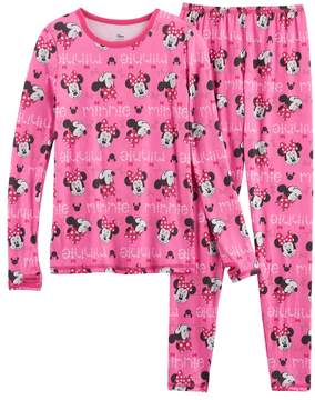 Cuddl Duds Disney's Minnie Mouse Girls 4-8 Baselayer Set by