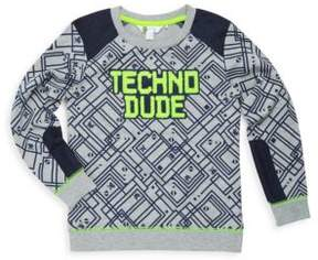 Petit Lem Little Boy's Techno City Cotton Sweater