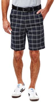 Haggar Big & Tall Classic-Fit Plaid Expandable Waistband Shorts
