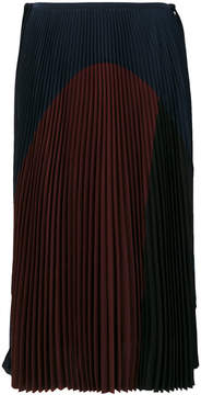 Agnona colour block pleated skirt