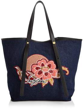 See by Chloé Andy Embroidered Canvas Tote