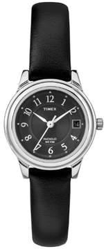 Timex Womens Silvertone Black Dial Watch