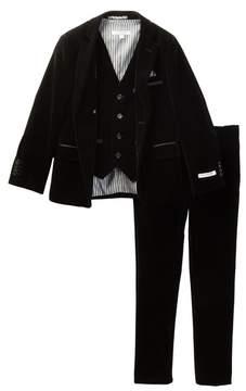 Isaac Mizrahi Velvet 3-Piece Suit (Toddler, Little Boys, & Big Boys)