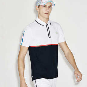 Lacoste Men's Sport Ultra Dry Zip Pique Knit Tennis Polo Shirt