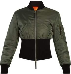 Alexander McQueen Ribbed-hem padded bomber jacket