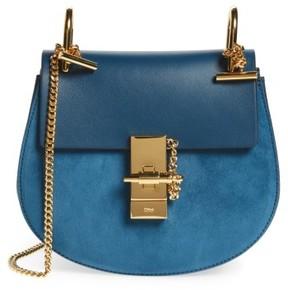 Chloe 'Mini Drew' Leather Crossbody Bag - Blue