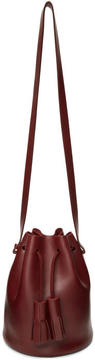 Building Block Burgundy Mini Bucket Bag