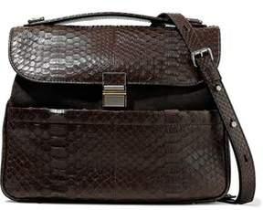 Proenza Schouler Kent Python-Paneled Suede Shoulder Bag