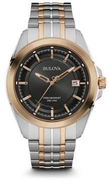 Bulova Precisionist 98B268 Two-Tone Analog Quartz Men's Watch