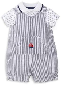 Little Me Baby's Two-Piece Sailing Polo and Romper Cotton Set