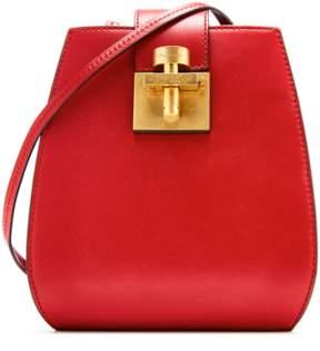 Oscar de la Renta Crimson Houston Bucket Bag