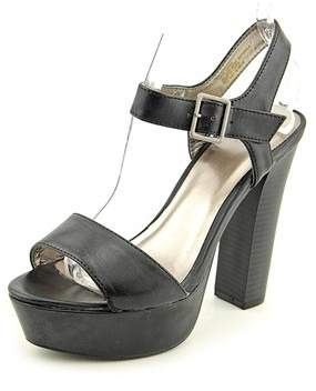 Material Girl Womens Ciara Leather Open Toe Special Occasion Platform Sandals.
