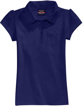 Nautica Uniform Lace-Trim Polo, Big Girls Plus (8-20)