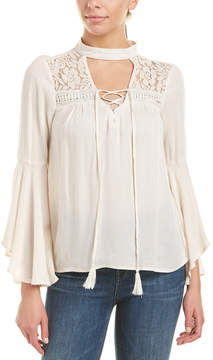 Flying Tomato Lace-Up Top