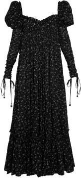 Alexander McQueen Floral-print empire-waist cotton-voile dress