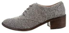 Louise et Cie Tweed Round-Toe Oxfords