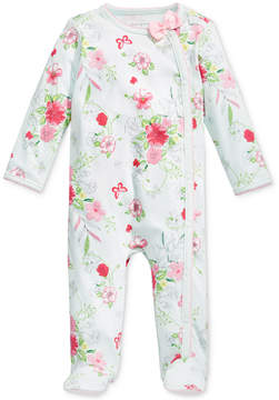 First Impressions 1-Pc. Floral-Print Footed Coverall, Baby Girls, Created for Macy's
