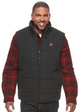 Coleman Men's Sherpa-Lined Microfiber Quilted Vest
