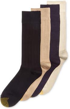 Gold Toe Men's 4-Pk. Textured Fashion Socks