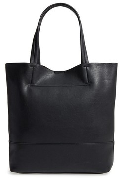 Sole Society Oversize Melyssa Faux Leather Tote - Black