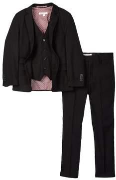 Isaac Mizrahi Micro Gingham 3-Piece Suit (Toddler, Little Boys, & Big Boys)