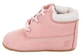 Timberland Girls' Suede Round-Toe Boots