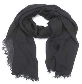La Fiorentina Women's Italian Solid Modal Scarf With Frayed Edges.