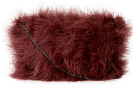 Brunello Cucinelli Marabou Feather Mini Crossbody Bag