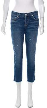 Amo Distressed Accented Mid-Rise Jeans