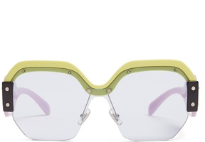 Miu Miu Oversized acetate sunglasses