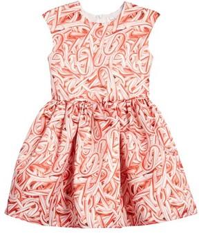 Halabaloo Toddler Girl's Candy Cane Print Dress